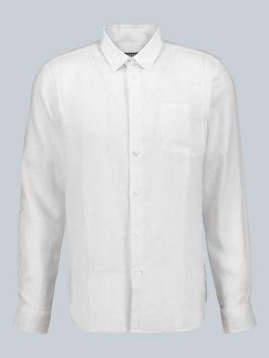 Льняная рубашка - белая Vilebrequin