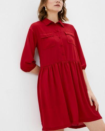 Платье - красное Please