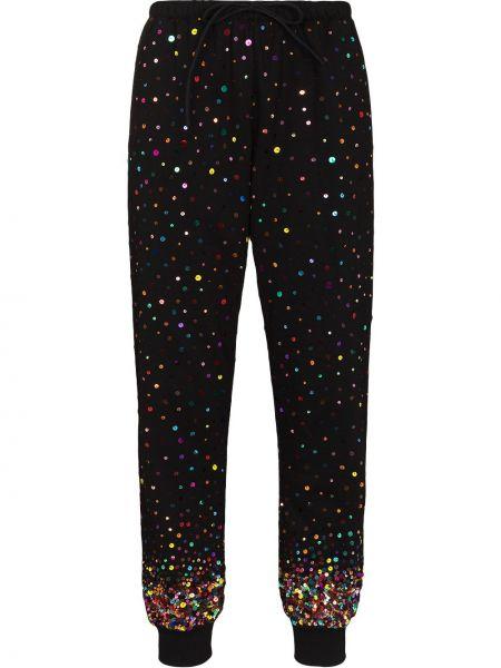 Спортивные брюки из полиэстера - черные Ashish