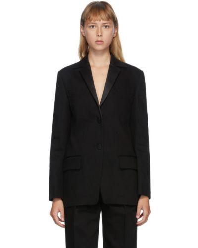 Однобортный черный удлиненный пиджак с подкладкой Alexander Wang