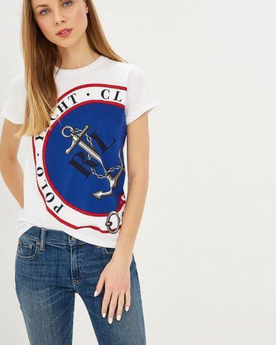 Белая футболка с короткими рукавами Polo Ralph Lauren
