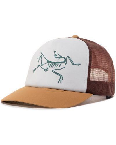 Brązowa czapka Arcteryx