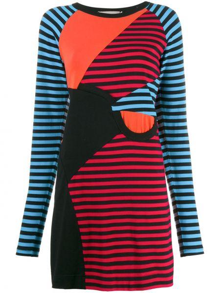 Прямое приталенное платье макси с капюшоном Preen Line