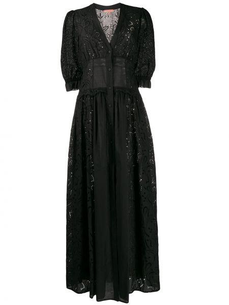 Платье мини на пуговицах с V-образным вырезом Ermanno Scervino
