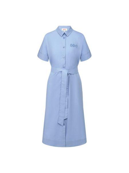 Хлопковое платье - синее Paul&joe
