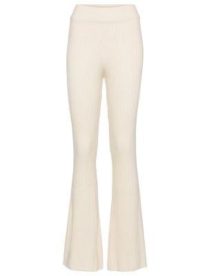 Białe spodnie wełniane Cordova