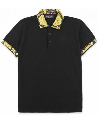 Czarna włoska t-shirt Versace