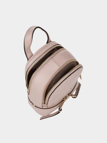 Розовый кожаный рюкзак трансформер Michael Kors