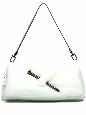 Kopertówka skórzana - biała Off-white