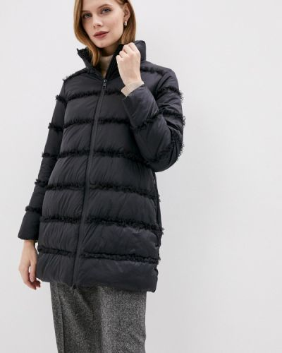 Теплая черная утепленная куртка Twinset Milano