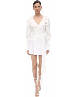 Платье с V-образным вырезом с буфами Rotate