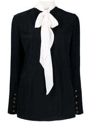 Bluzka z długim rękawem biała jedwabna Givenchy