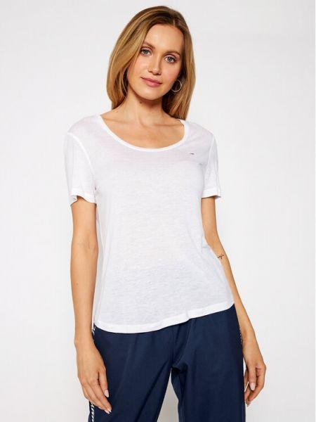Biały koszula jeansowa Tommy Jeans