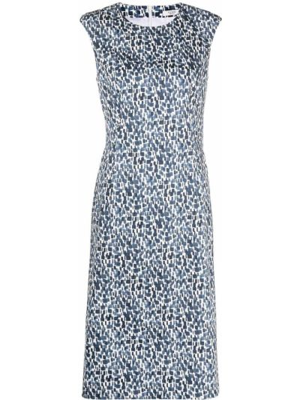 Niebieska sukienka bez rękawów bawełniana Peserico