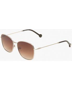 Муслиновые солнцезащитные очки квадратные золотые Enni Marco