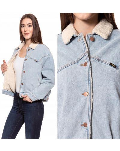 Niebieska kurtka jeansowa bawełniana vintage Wrangler