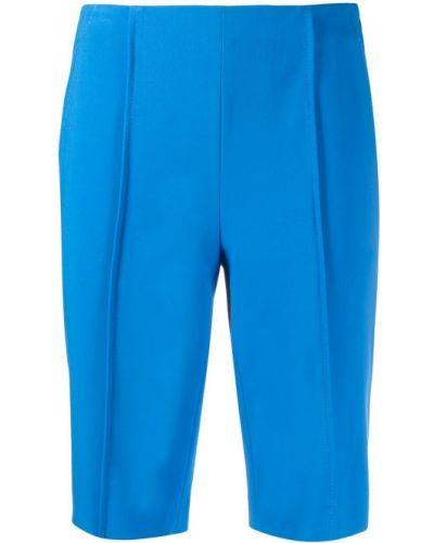 Синие шорты эластичные из вискозы Krizia