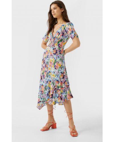 Платье с оборками Stradivarius