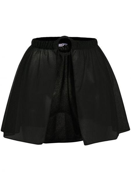 Черная пляжная юбка с поясом круглая Oseree