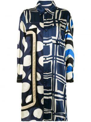 Платье макси длинное - синее Marni