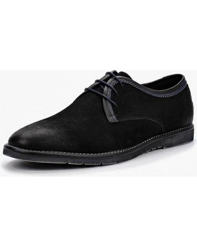 Черные туфли из нубука Dino Ricci