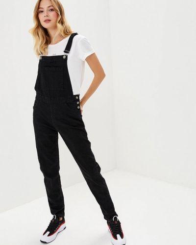 Черный джинсовый комбинезон Roxy
