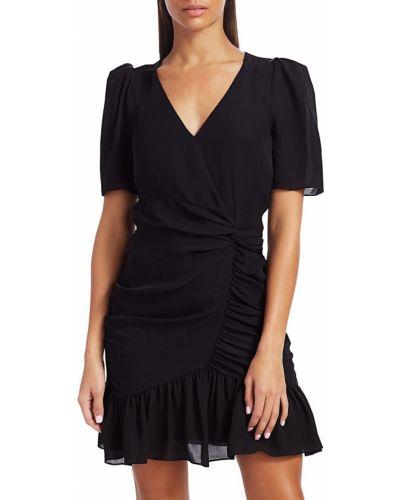 Черное шелковое платье мини Parker