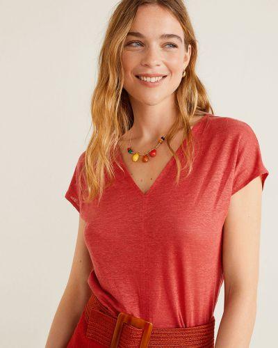 Koszula skromny czerwony Mango