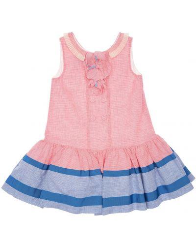 Хлопковое платье с подкладкой с оборками с вырезом Mi.mi.sol.