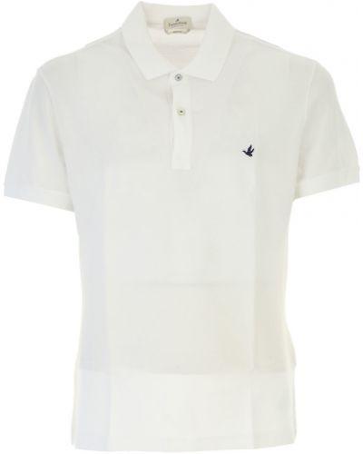 Biały t-shirt bawełniany Brooksfield