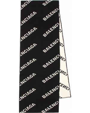 Черный шарф из верблюжьей шерсти Balenciaga