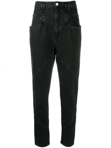 Bawełna bawełna obcisłe dżinsy z kieszeniami z łatami Isabel Marant
