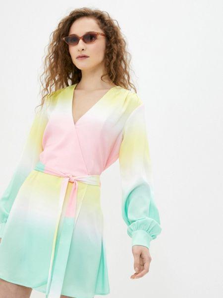 Разноцветное платье Sh