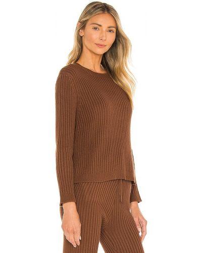 Акриловый свитер - коричневый Majorelle