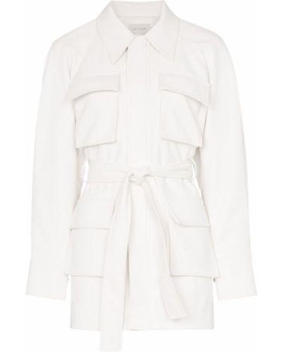 Белая куртка на молнии Low Classic