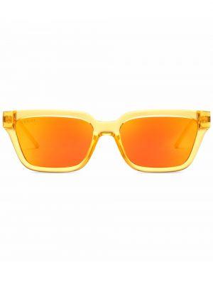 Okulary z printem - żółte Gucci Eyewear