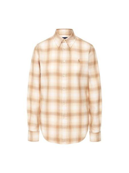 Джинсовая рубашка в клетку расклешенная Polo Ralph Lauren