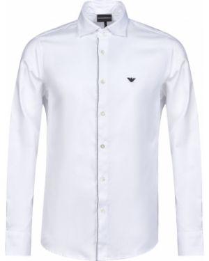 Хлопковая рубашка - белая Emporio Armani