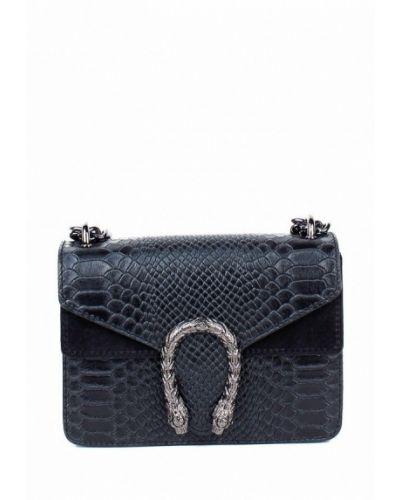 Кожаная сумка через плечо - черная Bella Bertucci