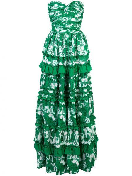 Платье со складками зеленый Alexis