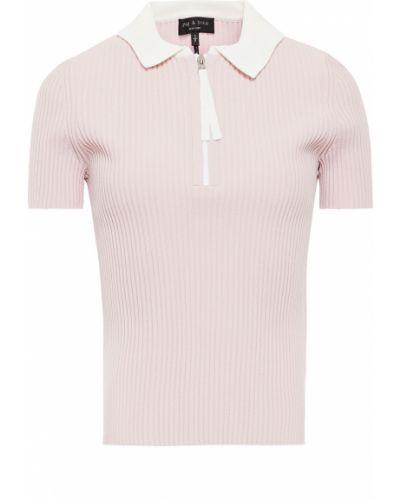 Prążkowana różowa koszula z wiskozy Rag & Bone
