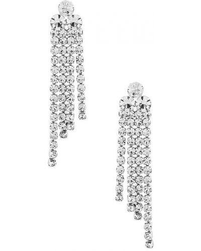 Kolczyki sztyfty z frędzlami srebrne Loeffler Randall