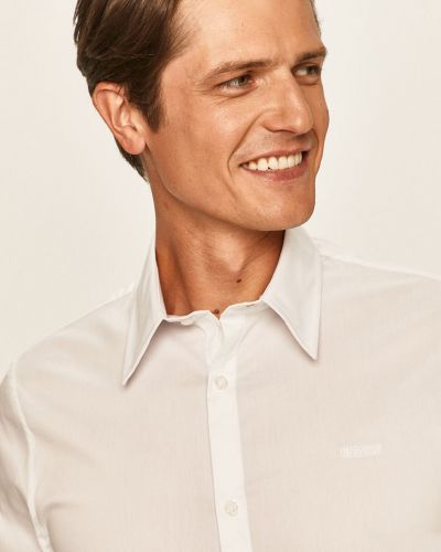 Biała koszula jeansowa bawełniana casual Guess