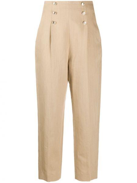 Укороченные брюки с завышенной талией плиссированные Sandro Paris