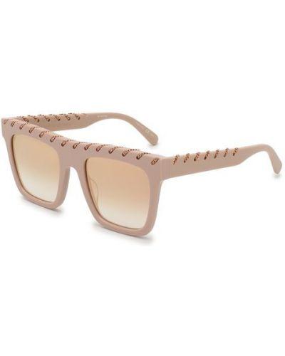 Бежевые солнцезащитные очки Stella Mccartney