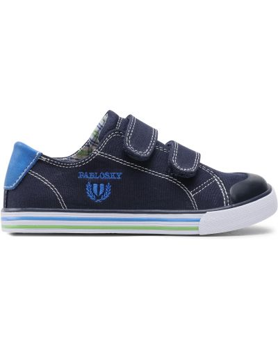 Кроссовки на липучках - синие Pablosky