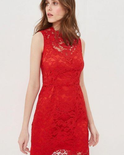 Вечернее платье весеннее красный Lusio