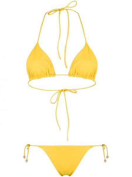 Пляжные желтые бикини круглые эластичные Tara Matthews