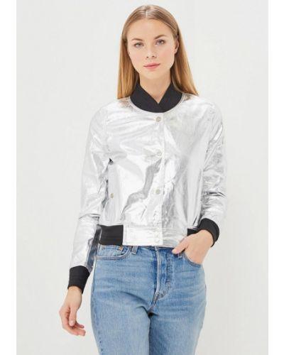 Куртка весенняя серебряного цвета Sweewe