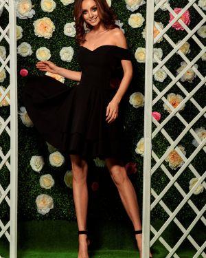 Czarna sukienka na komunię oversize Lemoniade